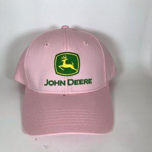 John Deere pink baseball cap hat green
